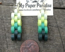 Quilling minecraft dangling earrings - hand crafted accessory, available in different colors and custom