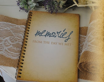 Journal Romance Love - Memories From The Day We Met Custom Personalized Journals Vintage Style Book