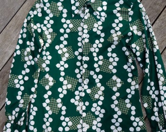 Early 70's Givenchy for Chesa Women's Blouse - Size Small