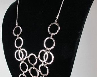 Layered Necklace Silver plated, Long Necklace, Layered Necklace