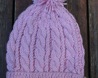 Cabled Handknit Beanie