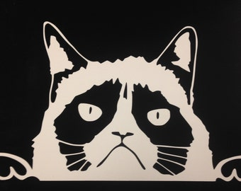 Peeking Cat (W14) Vinyl Decal Sticker Car/Truck Laptop/Netbook Window