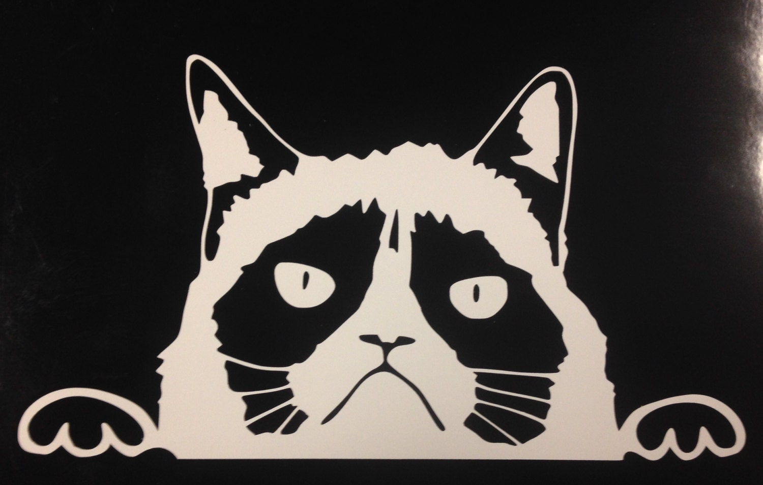 Peeking Cat W Vinyl Decal Sticker CarTruck LaptopNetbook - Cat custom vinyl decals for car windows