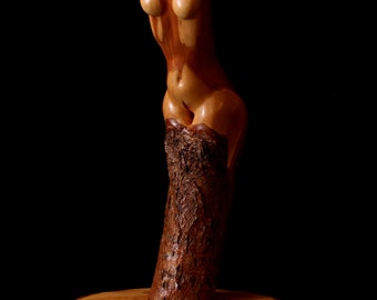 "Nude Figure, Wood Sculpture, Diamond Willow, ""Muse"""