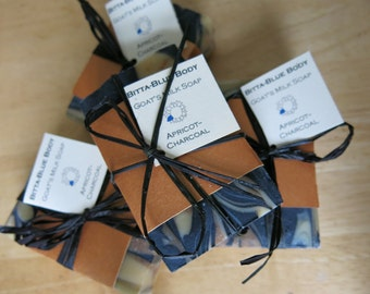 Apricot Charcoal Goat's Milk Soap