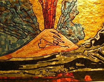 """Mosaic reproduction """"vesuvius"""" Andy Warhol"""