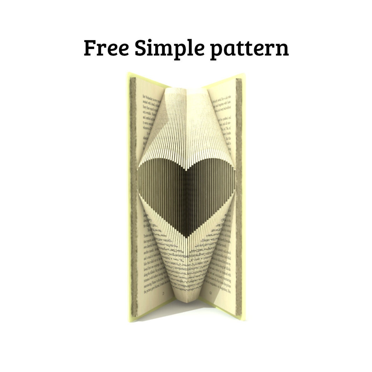 how to make folded book art heart