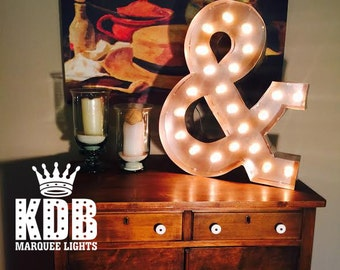"Lighted Ampersand (& Symbol) Marquee Sign - 24"" High"