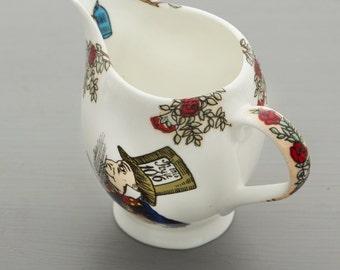 Alice In Wonderland Bone China Cream Jug