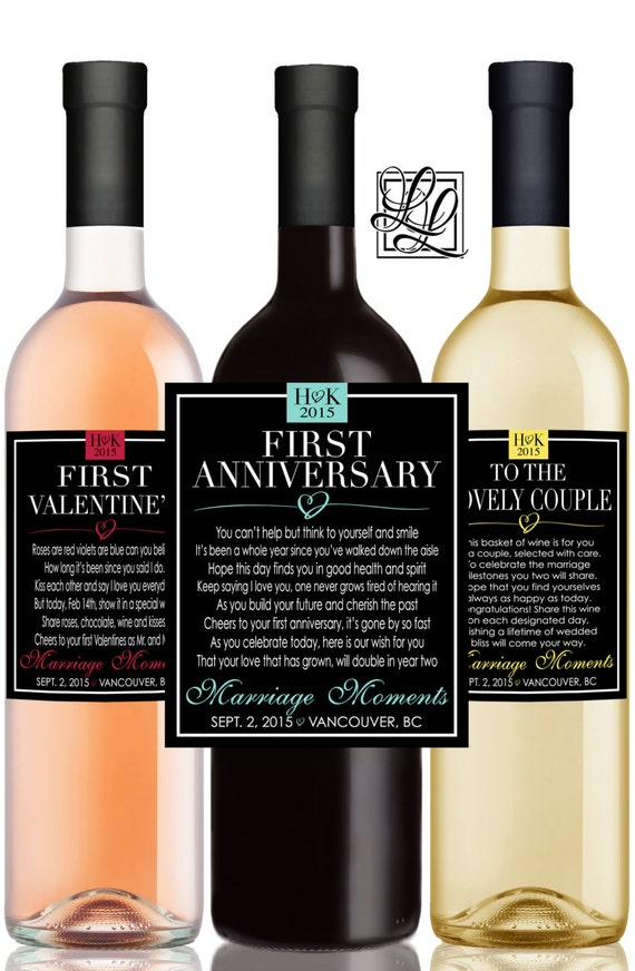 Marriage Milestones Poems Wedding Gift Wine Champagne ...