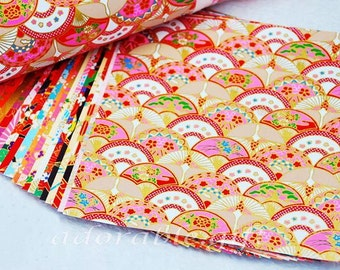 Japan Origami Paper / Yuzen Chiyogami / Washi / Traditional Japanese Favour Crafts 14* 14 / 20 sheets Set A