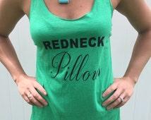 Redneck Pillows triblend vintage tank, gag gift, funny tank,redneck tank, hillbilly shirt, bday gift, xmas gift, country girl shirt