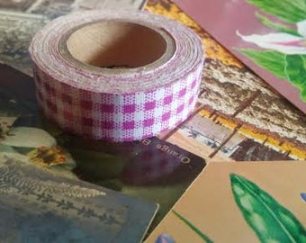 Sweet plaid purple and white ribbon tape