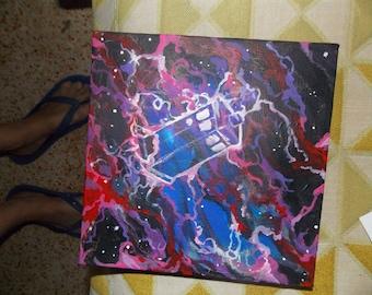 Tardis OOAK acrylic painting  DR Who