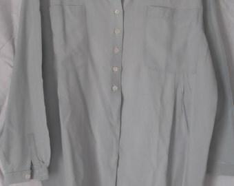 Vintage SILK Byblos Light Blue Dress Shirt, I 42, UK 10 – 12 , US 8 - 10