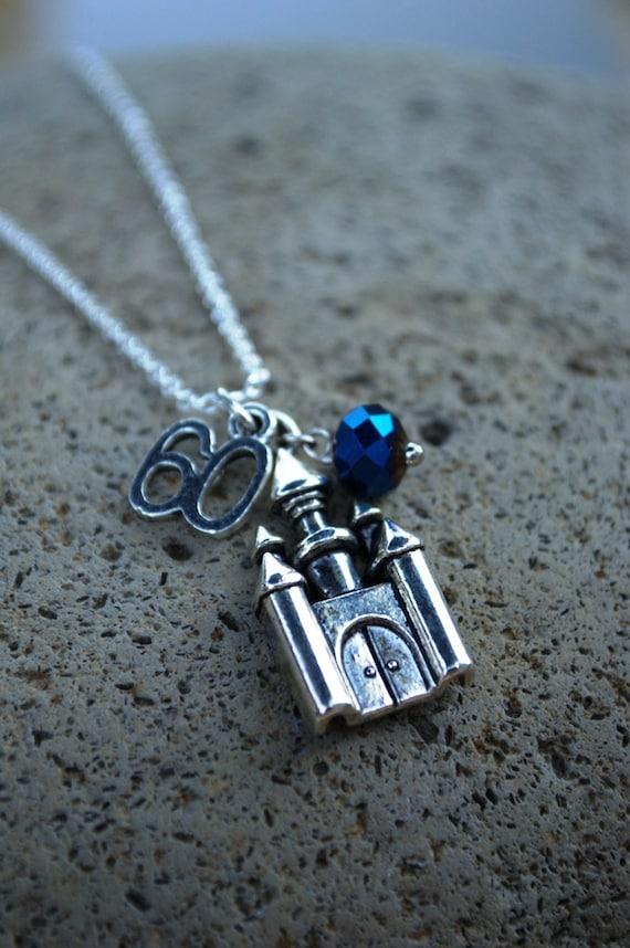 2018 Graduation Necklace, Birthday Necklace, Disneyland 16th, 18th, 21st, 30th, 40th, 50th, 60th Birthday, Disney World Anniversary Keychain