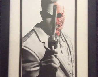 Framed Harvey Dent Two Face Lithograph from Batman Arkham City