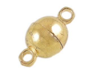 round magnetic closure brass gold