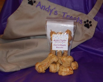 Gourmet Dog treats - Carrot Apple Biscuits