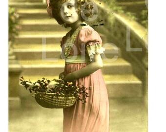 1918 French Postcard  Happy Holidays - Bonne Fete