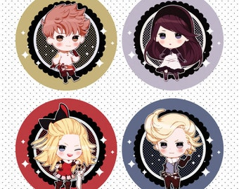 "Bravely Default 2.25"" Pinback Buttons"