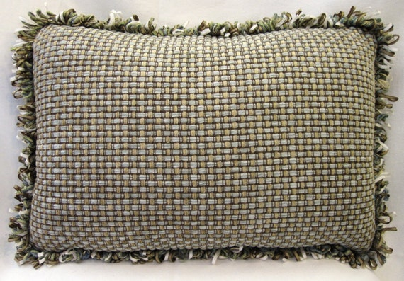 How To Make A Basket Weave Pillow : Inch basket weave chenille pillow cover by