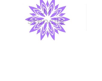 Starburst Flower Stencil