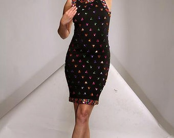 GEO-STONE vintage black dress