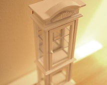 Dollhouse miniature furniture 1:12 white display cabinet