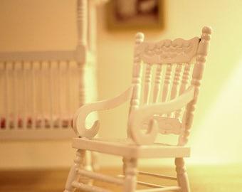 Dollhouse rocking chair dolls house furniture rocker 1 12th scale miniature