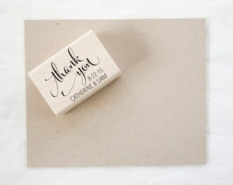 Wedding Favor Stamp - thank you stamp - wedding stamp - custom stamp - custom wedding stamp - favor stamp - rubber stamp - thank you - Z1042