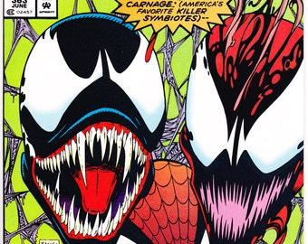 Amazing Spider-man 363, Venom, 3rd Carnage comic book. Spiderman birthday party gifts, Vintage Webslinger. 1992 Marvel Comics in NM+ (9.6)