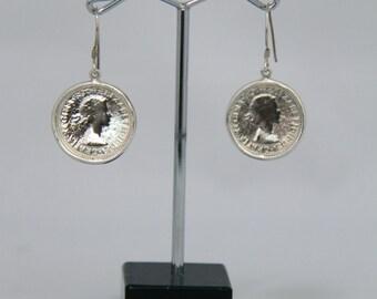 Six Pence Coin Earrings