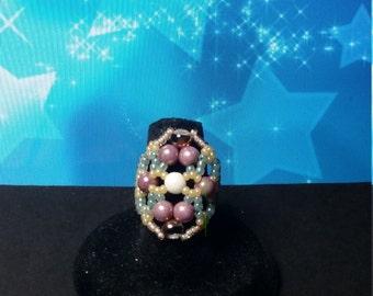 Victorian RounDuo Beaded Ring