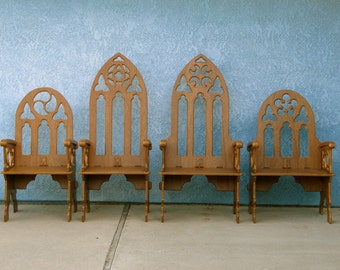 Medieval Window Back Chair