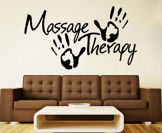 Spa Wall Vinyl Decal Massage Therapy Wall Vinyl Sticker Sign