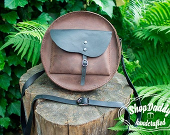 Leather Shoulder Bag, Womens Leather Bag, Round bag, Leather Bag, Small Bag, Crossbody Bag,Leather Purse,Womens Bag,Custom Leather Bag,Purse