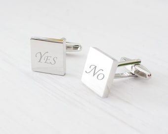 Personalized Engraved Cufflinks for Men - Perfect gift for Dad - Father - Groom - Groomsmen - Father Day - Wedding - Graduates - Monogram