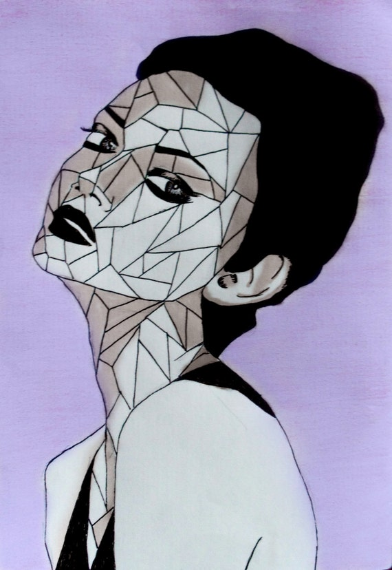 Geometric Features (Violet)Digitally altered Illustration