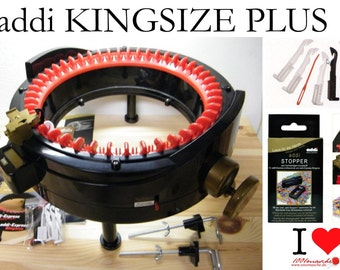 addi-Express Kingsize PLUS knitting machine - 46 needles + 2 add. Stoppers + 5 add. Needles (for Replacement)