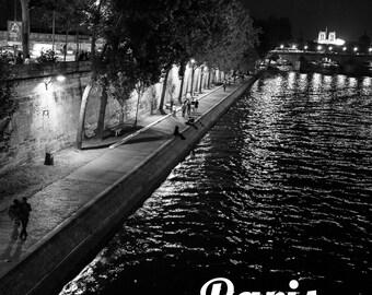 "Digital photography - Paris ""Night Seine"""