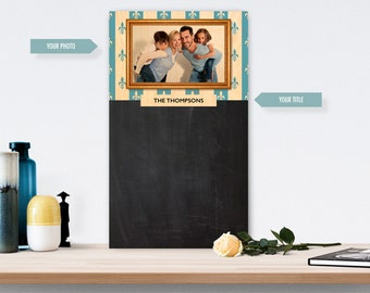 Chalkboard (Wood) Customisable With Your Photo - The Portrait