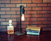 Industrial Lighting -  Industrial Pipe Table Lamp - Industrial Lamp - Edison Lamp