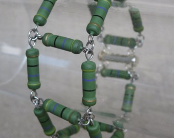 Green Matte Resistor Bracelet
