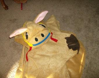 Kids Faux Fur Camel Animal Halloween Costume Noahs Ark Pageant Custom Made