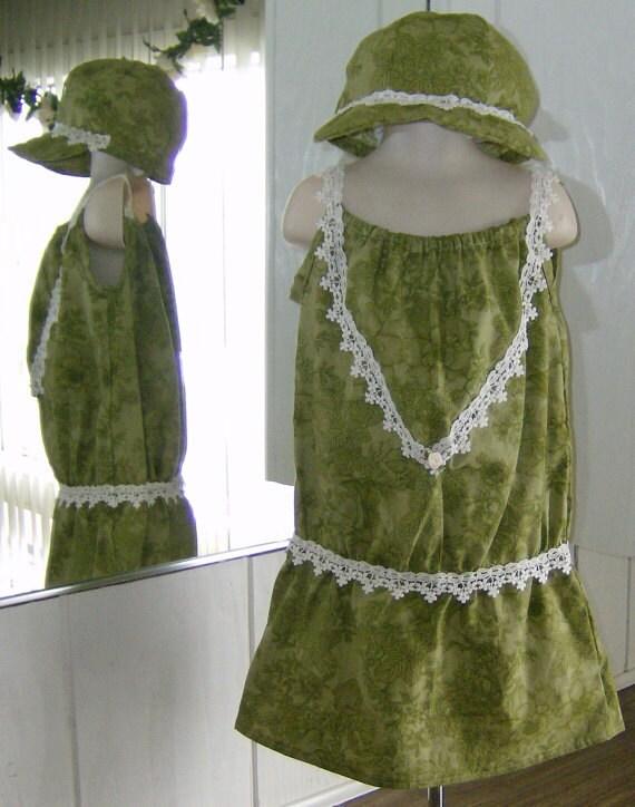 Girls Flapper Style Drop Waist Dress Summer Sundress 1920s