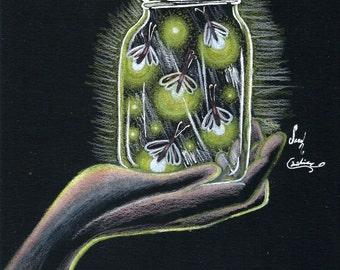 Original Fireflies Drawing