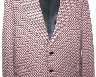 Mens Vintage Blazer sports coat  jacket Mod 1970's   House of Gheng Size Medium