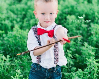Matching Bow tie and Suspenders