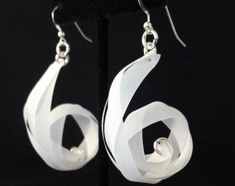 Big Swirl Vellum Braid Earrings